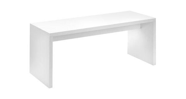 Brückensitztisch 1,80x0,80m weiß 1