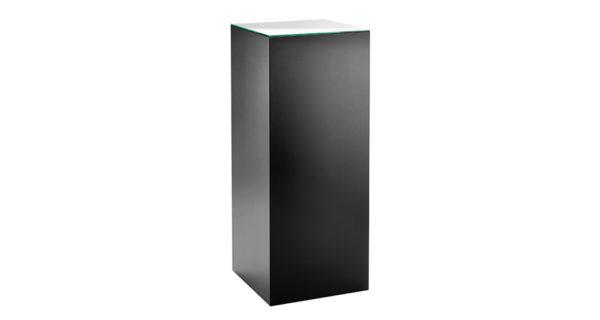 Dekosäule schwarz 45 x 45 cm mit Glasplatte 3