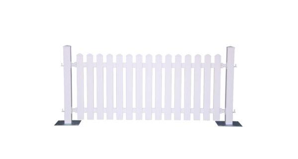 Dekozaun -Kunststoff weiß- 1