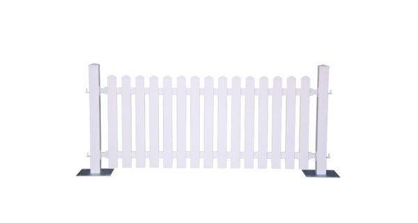 Dekozaun -Kunststoff weiß- 3