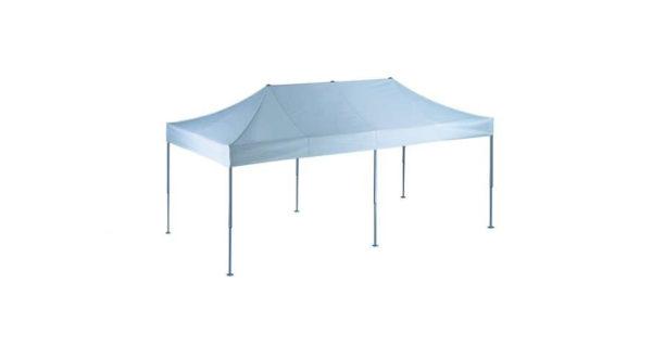 Easy-Up Faltzelt 3,0 x 6,0 m weiß zum Selbstaufbau 2