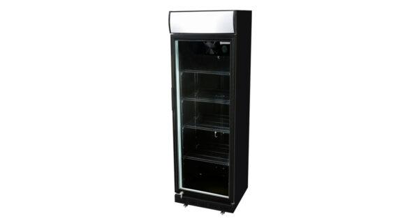 Kühlschrank 360 l schwarz mit Glastür 1