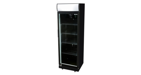 Kühlschrank 360 l schwarz mit Glastür 3