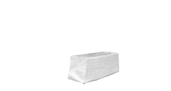 Eine Tischhaube für den Marktstand aus Zeltplane gefertigt.