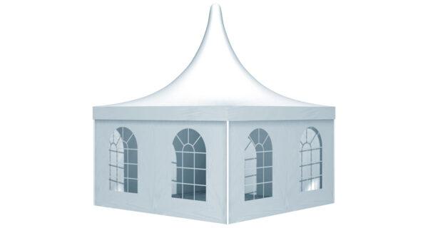 ein Pagodenzelt mit Fenstern