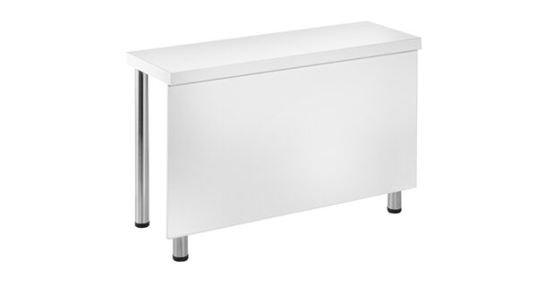 Konferenztisch 1,20x0,40m weiß m. Blende 1