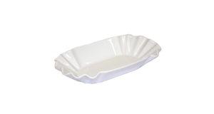 Pommesschale 20 cm Porzellan weiß 7