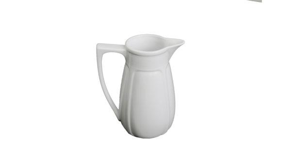Porzellankrug 1,5 Liter weiß 2