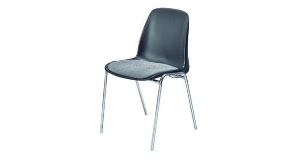 Schalenpolsterstuhl schwarz 1