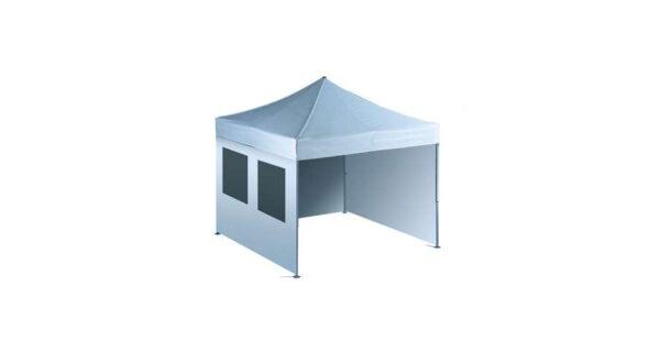Seitenwand 3 m weiß mit Fenster Easy-Up Faltzelt 1
