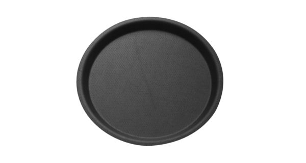 Serviertablett Ø 32 cm, rutschfest, schwarz 3