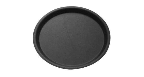 Serviertablett Ø 43 cm, rutschfest, schwarz 1