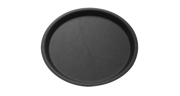 Serviertablett Ø 43 cm, rutschfest, schwarz 3