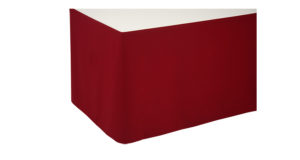 Skirting 0,72m bordeaux  glatt 6