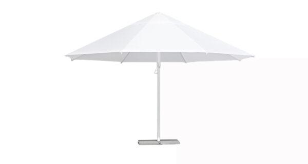 Sonnenschirm Ø 5 m weiß 1