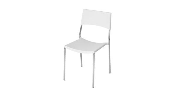 Stuhl Berlin weiß 3