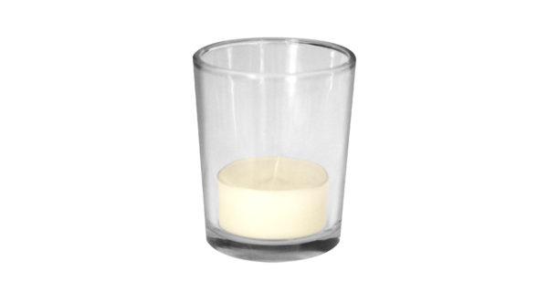 Teelichthalter Glas 2
