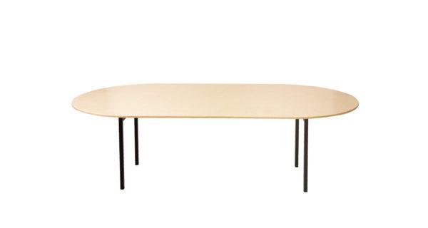 Banketttisch 2,40m oval 3