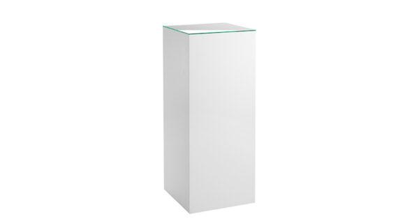 Dekosäule weiß 45 x 45 cm mit Glasplatte 1