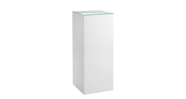 Dekosäule weiß 45 x 45 cm mit Glasplatte 3