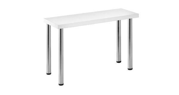 Konferenztisch 1,20 x 0,40m weiß 1