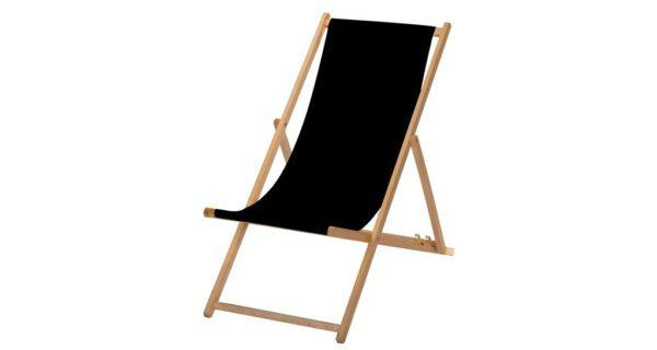 Liegestuhl schwarz 1