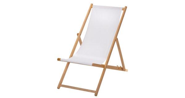 Liegestuhl weiß 1
